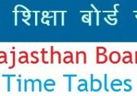 RBSE 9th 11th Time Table