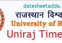 Uniraj BA Time Table