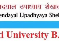 Shekhawati University B.Ed Result