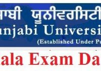 Punjabi University Patiala Date Sheet