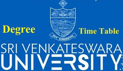 SV University Degree Time Table