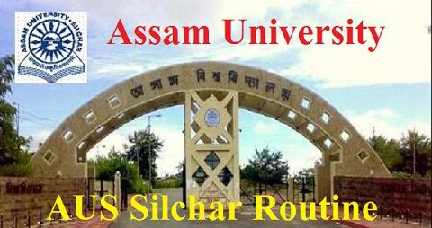 Assam University Time Table 2020
