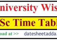 BSc Time Table