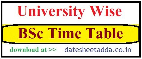 BSc Time Table 2020