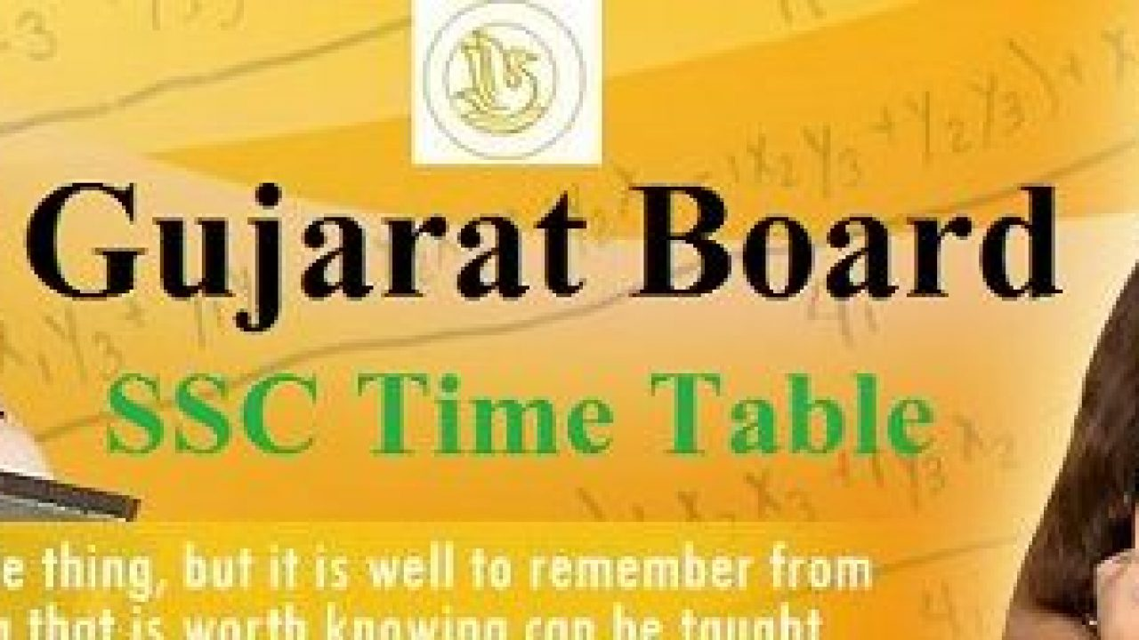 GSEB SSC Time Table 2020 Gujarat Board 10th Exam Schedule PDF