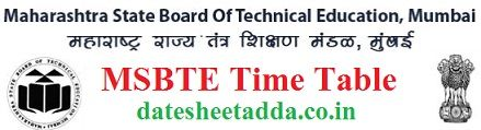 MSBTE Time Table 2020