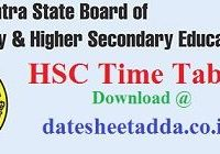 Maharashtra HSC Time Table