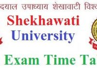Shekhawati University BA Time Table