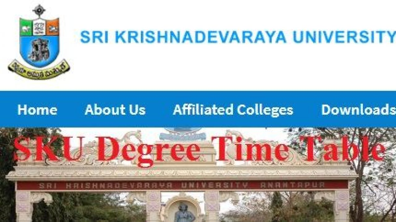 Sku Degree Time Table 2020 Released Ug Pg Exam Date Sheet Soon