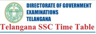 BSE Telangana SSC Time Table 2020