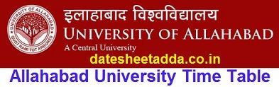 Allahabad University Time Table 2020