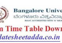 Bangalore University Time Table