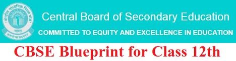 CBSE Blueprint for Class 12th 2020
