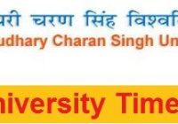 CCS University Time Table