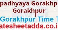 DDU Gorakhpur Time Table