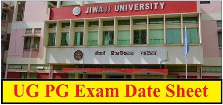Jiwaji University Gwalior Date Sheet