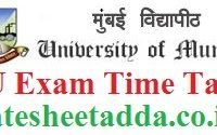 Mumbai University Exam Time Table