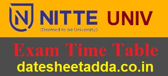 NITTE University Time Table