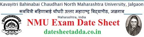 North Maharashtra University Exam Date Sheet