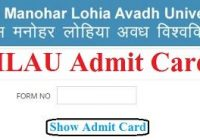 RMLAU Admit Card