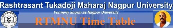 Nagpur University Summer Time Table