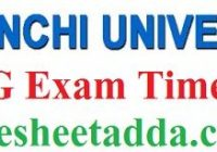 Ranchi University Time Table