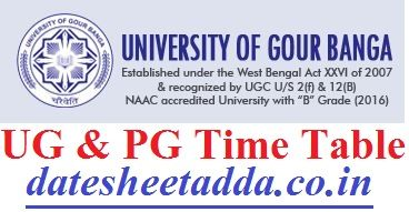 Gour Banga University Time Table