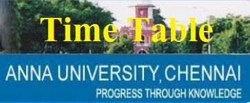 Anna University Time Table 2019