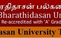 Bharathidasan University Time Table