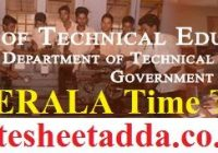 TEKERALA Time Table