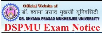 Dr. Shyama Prasad University Exam Schedule