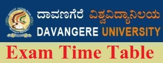 Davangere University Time Table