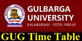 Gulbarga University Time Table 2020
