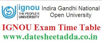 IGNOU Exam Time Table