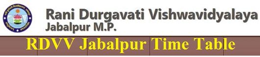 RDVV Jabalpur Time Table 2020