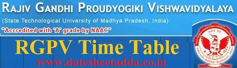 RGPV Diploma Time Table 2019-20 B Tech MCA Odd Sem Exam Schedule