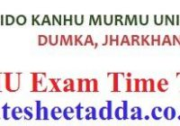 Sido Kanhu Murmu University Exam Schedule
