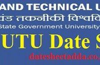 Uttarakhand Technical University Date Sheet