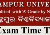 Berhampur University Time Table
