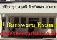 GGTU Banswara Exam Result