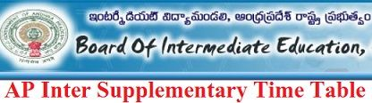 AP Intermediate Supplementary Time Table