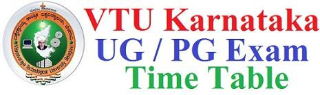 VTU Exam Time Table