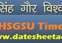DHSGS University Time Table