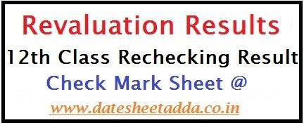 12th Class Revaluation Result 2019