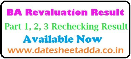 BA Revaluation Result 2019