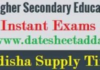CHSE Odisha Supplementary Time Table 2019