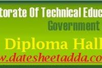 TNDTE Diploma Hall Ticket 2019