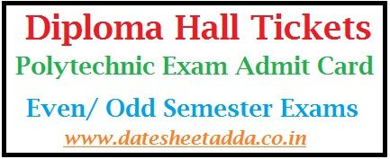 Diploma Hall Tickets 2019