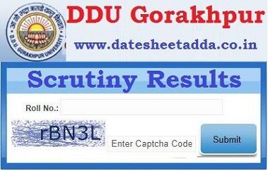 Gorakhpur University Revaluation Result 2020