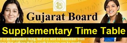 GSEB SSC Supplementary Time Table 2019